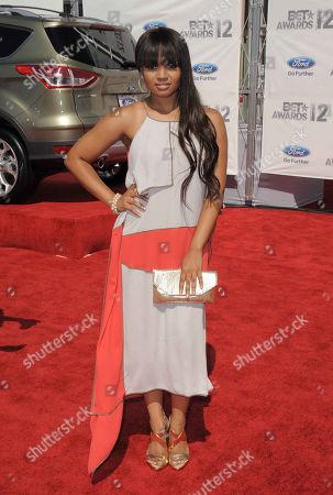Kyla Pratt arrives at the BET Awards, in Los Angeles
