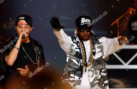 Flesh-n-Bone and Crazy Bone of Bone Thugs-n-Harmony performed at the 2013 BET Hip Hop Awards at the Atlanta Civic Center, in Atlanta, Ga