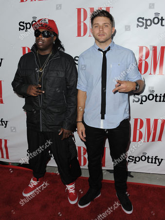 Detail and Chris Richardson arrive at the BMI Urban Awards on in Beverly Hills, Calif