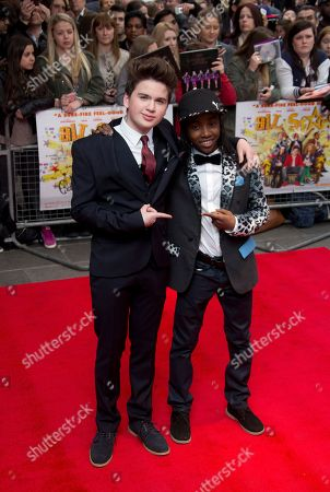 Theo Stevenson, left and Akai arrive at the UK Premiere of All Stars, at a central London cinema