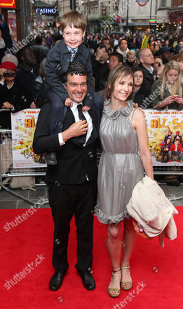 Director Ben Gregor arrives with his family at the UK Premiere of All Stars, at a central London cinema