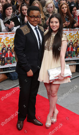 Gamal Tosefa, left and Hanae Atkins arrive at the UK Premiere of All Stars, at a central London cinema