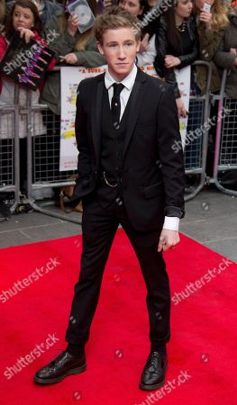British actor Dominic Herman Day arrives at the UK Premiere of All Stars, at a central London cinema