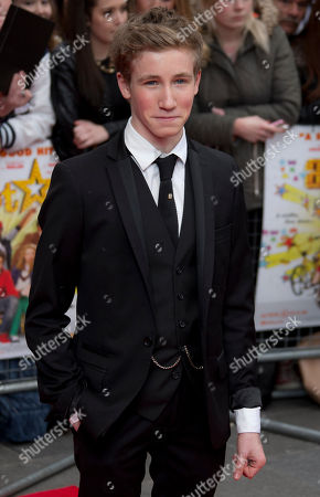 Stock Image of British actor Dominic Herman Day arrives at the UK Premiere of All Stars, at a central London cinema