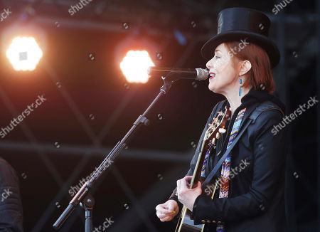 Singer Suzanne Vega performs at the Isle of Wight Festival on in Newport, Isle of Wight, England