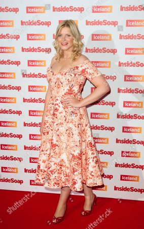 British actress Vanessa Hehir arrives for the Inside Soap awards, held in central London