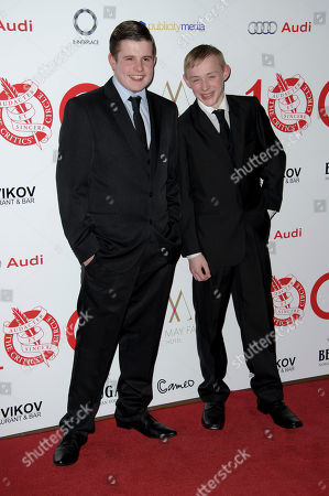 Shaun Thomas and Conner Chapman arrive for The London Critics Circle Awards, in London
