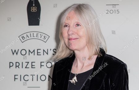 Helen Dunmore poses for photographers upon arrival at the Bailey Womenís Prize for Fiction Awards Ceremony in London