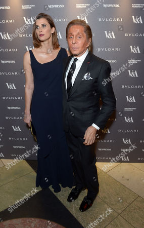 Princess Rosario of Bulgaria, Valentino Garavani attend a private dinner celebrating the Victoria and Albert Museum's new exhibition 'The Glamour Of Italian Fashion 1945 - 2014' at Victoria and Albert Museum on Tuesday, April. 1st, 2014