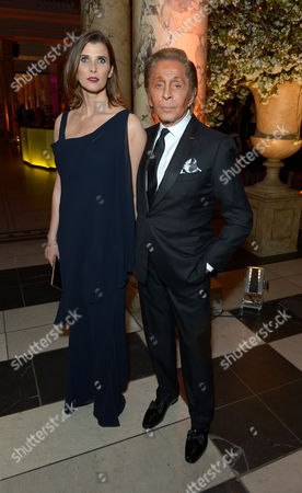 Stock Photo of Princess Rosario of Bulgaria, Valentino Garavani attend a private dinner celebrating the Victoria and Albert Museum's new exhibition 'The Glamour Of Italian Fashion 1945 - 2014' at Victoria and Albert Museum on Tuesday, April. 1st, 2014