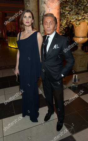 Stock Picture of Princess Rosario of Bulgaria, Valentino Garavani attend a private dinner celebrating the Victoria and Albert Museum's new exhibition 'The Glamour Of Italian Fashion 1945 - 2014' at Victoria and Albert Museum on Tuesday, April. 1st, 2014