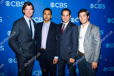 Stock Photo of Jeremiah O'Connell, from left, Kal Penn, Tony Shalhoub and Christopher Nicholas Smith attend the CBS Upfront on in New York