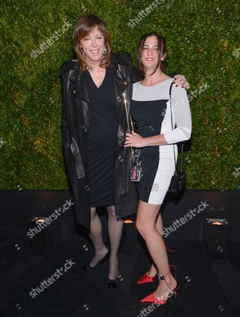Jane Rosenthal and daughter Juliana Hatkoff attend the CHANEL 10th Annual Tribeca Film Festival Artists Dinner at Balthazar Restaurant, in New York