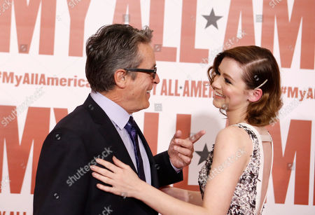 Stock Photo of Director Angelo Pizzo and Sarah Bolger seen at Clarius Entertainment Los Angeles Premiere of 'My All American' at The Grove, in Los Angeles, CA