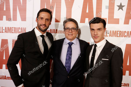 Juston Street, Director Angelo Pizzo and Finn Wittrock seen at Clarius Entertainment Los Angeles Premiere of 'My All American' at The Grove, in Los Angeles, CA