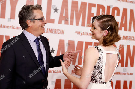 Director Angelo Pizzo and Sarah Bolger seen at Clarius Entertainment Los Angeles Premiere of 'My All American' at The Grove, in Los Angeles, CA