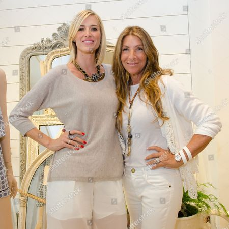 Kristen Taekman and Jennifer Miller attends a Club Monaco store opening event in Southampton on in New York