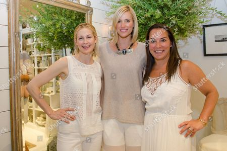 Kelly Rutherford, Kristen Taekman, and Samantha Yanks attend a Club Monaco store opening event in Southampton on in New York