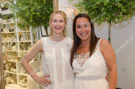 Kelly Rutherford and Samantha Yanks attend a Club Monaco store opening event in Southampton on in New York
