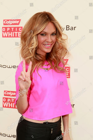 Jasmine Dustin at The Colgate® Optic White® Beauty Bar at The Selma House in Los Angeles
