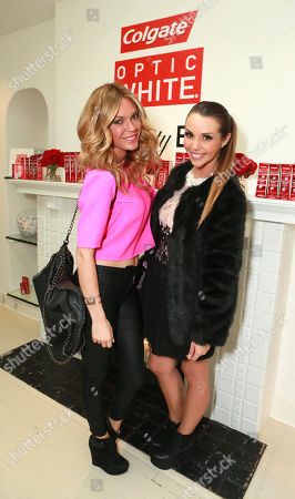 Jasmine Dustin and Scheana Mari at The Colgate® Optic White® Beauty Bar at The Selma House in Los Angeles