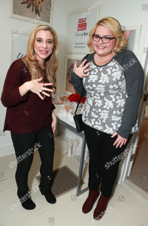 Skyler Day and B.K. Cannon attend the Colgate Optic White Beauty Bar at The Selma House in Los Angeles  Day 2 on