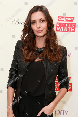 Olga Fonda attends the Colgate Optic White Beauty Bar at The Selma House in Los Angeles  Day 2 on