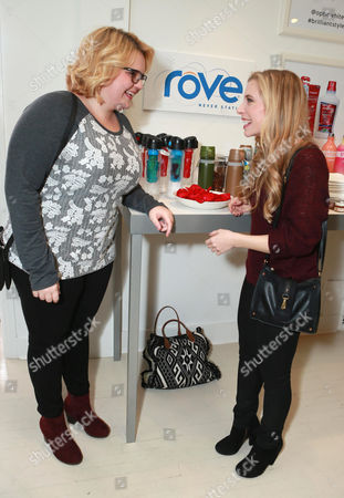 B.K. Cannon and Skyler Day attend the Colgate Optic White Beauty Bar at The Selma House in Los Angeles  Day 2 on