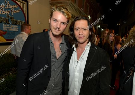 """Nathan Keyes, left, and Clifton Collins, Jr. attend the screening of """"Cleaners"""" at Sony Pictures Studio's Cary Grant Theater, in Culver City, Calif"""