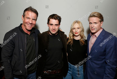 """Dennis Quaid, Christian Cooke, Kate Bosworth and Cary Elwes speak at Crackle's """"The Art of More"""" SAG Screening at The Landmark, in Los Angeles"""