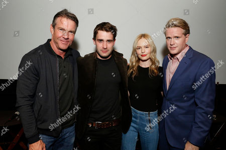 "Dennis Quaid, Christian Cooke, Kate Bosworth and Cary Elwes speak at Crackle's ""The Art of More"" SAG Screening at The Landmark, in Los Angeles"