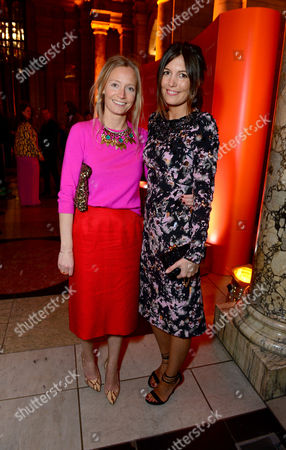 Martha Ward and Amanda Ferry seen at the VIP reception for the 'David Bowie Is' exhibition at the V&A Museum in London on