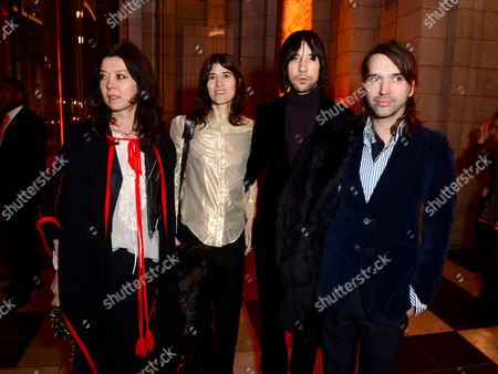 Katy England, Bella Freud and Bobby Gillespie seen at the VIP reception for the 'David Bowie Is' exhibition at the V&A Museum in London on