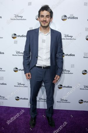 Tate Ellington arrives at the at Disney Media Distribution International Upfronts at The Walt Disney Studios Lot, in Burbank, Calif