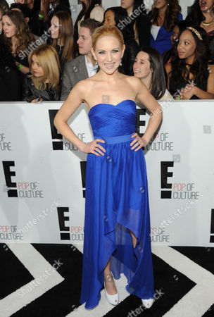 """Julie Elkind from """"Playing With Fire"""" attends the E! Network 2013 Upfront at the Manhattan Center on in New York"""