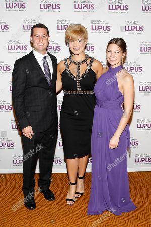 "Gala Emcee Dimitri Tsimoyianis, musical artist Tessanne Chin, and Gala Emcee Rachel Rabinowitz seen at the Lupus Foundation of America's ""Evening of Hope"" Gala, on in New York"
