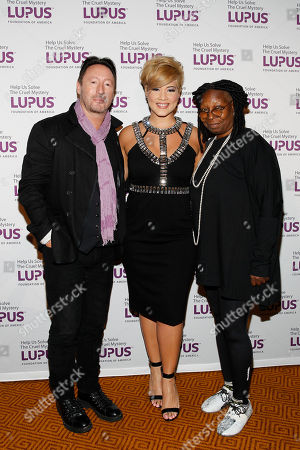 """Actress Whoppi Goldberg, musical artist Tessanne Chin, and Global Ambassador Julian Lennon seen at the Lupus Foundation of America's """"Evening of Hope"""" Gala, on in New York"""