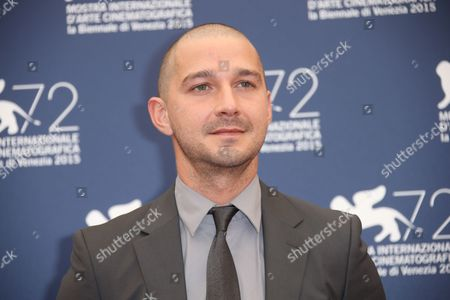 Shia La Beouf poses for photographers at the photo call for the film Man Down 72nd edition of the Venice Film Festival in Venice, Italy, . The 72nd edition of the festival runs until Sept. 12