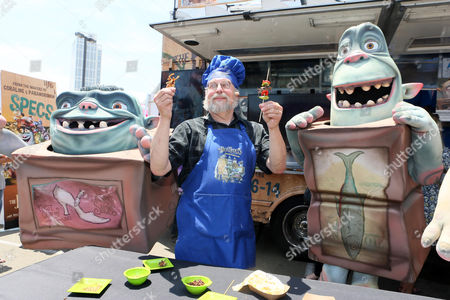 """Chef David George Gordon at Focus Feature's """"#EatLikeABoxtroll"""" Bug Truck at 2014 Comic-Con, in San Diego, CA"""