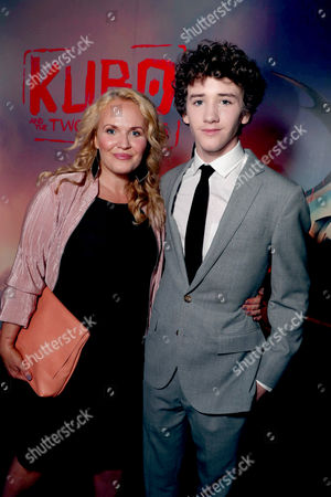 """Movania Parkinson and Art Parkinson seen at Focus Features Los Angeles Premiere of LAIKA """"Kubo and The Two Strings"""", in Universal City, Calif"""