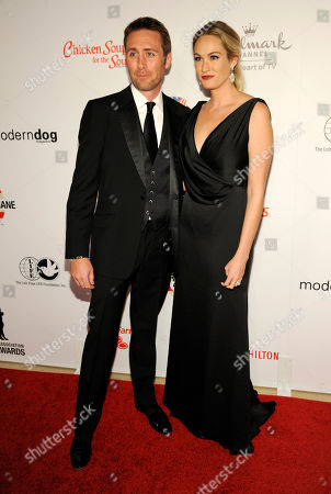 Philippe Cousteau Jr., left, and Ashlan Gorse attend the American Humane Association's 4th Annual 'Hero Dog Awards'? at the Beverly Hilton Hotel, in Beverly Hills, Calif