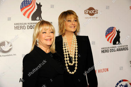 Candy Spelling, left, and Cristina Ferrare attend the American Humane Association's 4th Annual Hero Dog Awards at the Beverly Hilton Hotel, in Beverly Hills, Calif