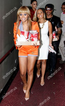 Actress and recording artist Teairra Mari attends Holla II Movie Premiere - NYC on Wed, at AMC Empire 25 in New York. NY
