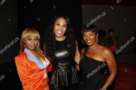 """L-R) Teairra Mari, Monica """"Doll Phace"""" Floyed and Vanessa Bell Calloway attend Holla II Movie Premiere - NYC on Wed, at AMC Empire 25 in New York. NY"""