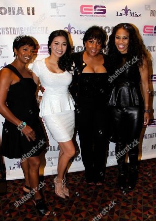 """Stock Image of L-R) Actors Vanessa Bell Calloway, Crystal Hoang, producers Marie Lemelle and Monica """"Doll Phace"""" Floyed attend Holla II Movie Premiere - NYC on Wed, at AMC Empire 25 in New York. NY"""