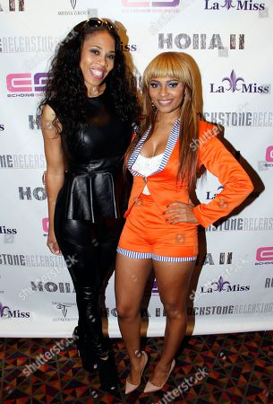 """Monica """"Doll Phace"""" Floyed Recording artists Doll Phace and Teairra Mari attend Holla II Movie Premiere - NYC on Wed, at AMC Empire 25 in New York. NY"""