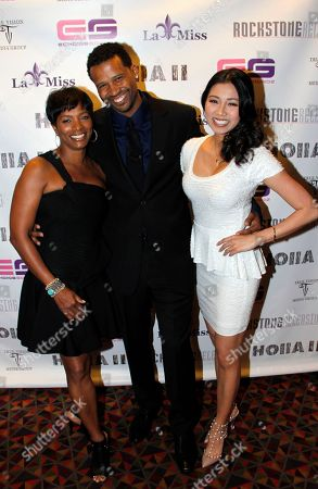 Actors Vanessa Bell Calloway, Trae Ireland and Crystal Hoang attend Holla II Movie Premiere - NYC on Wed, at AMC Empire 25 in New York. NY