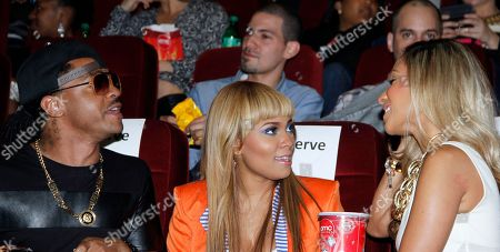 Actress and recording artist Teairra Mari (C) and friends seen at Holla II Movie Premiere - NYC on Wed, at AMC Empire 25 in New York. NY
