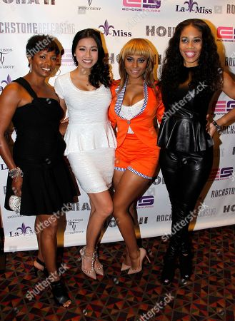 """L-R) Actors Vanessa Bell Calloway, Crystal Hoang, Teairra Mari and producer Monica """"Doll Phace"""" Floyed attend Holla II Movie Premiere - NYC on Wed, at AMC Empire 25 in New York. NY"""