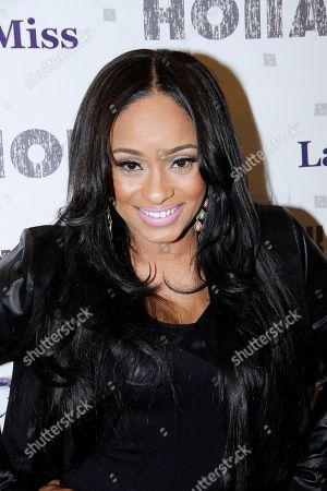 TV personality Tahiry Wright attends Holla II Movie Premiere - NYC on Wed, at AMC Empire 25 in New York. NY